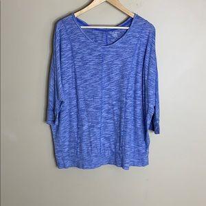Lane Bryant blue/white stripe T-shirt